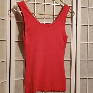 Cache Tops - CACHE SLEEVELESS RIBBED KNIT TANK TOP SZ M